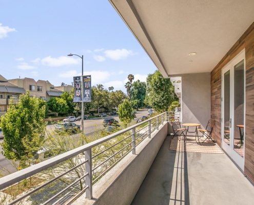 Expansive Private Balcony