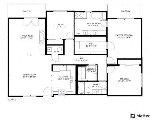 4644 Coldwater Canyon Ave #401 Floorplan